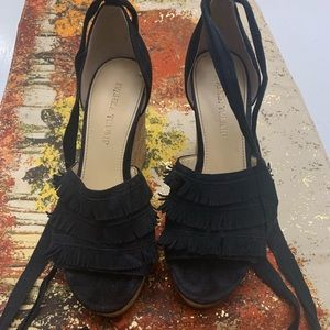 Ivanka Trump black wedges.